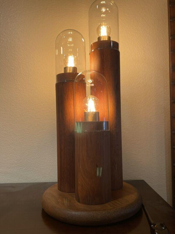 Vintage Modeline Mid-Century Modern Wooden Table or Desk Lamp