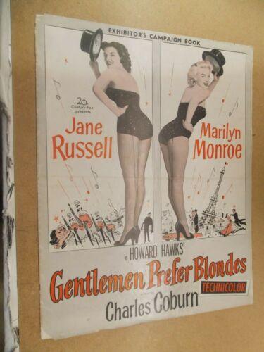 GENTLEMEN PREFER BLONDES(1953)MARILYN MONROE ORIGINAL PRESSBOOK NICE!