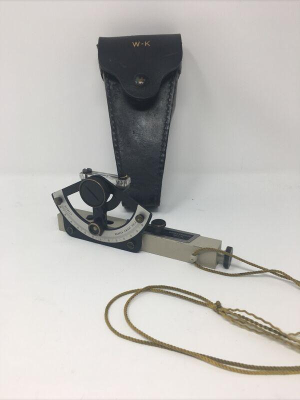Warren Knight Abney LEVEL #175 Surveying Inclinometer -  w/Case