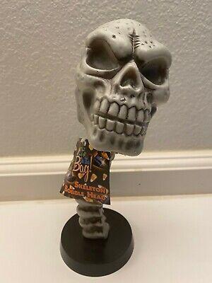 "New Halloween Skeleton Plastic Bobblehead 9.5"" tall"