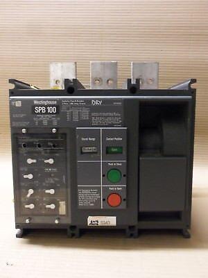 Westinghouse Pow-r-breaker Spb Spb100 3 Pole 800 Amp Lsig Air Circuit Breaker