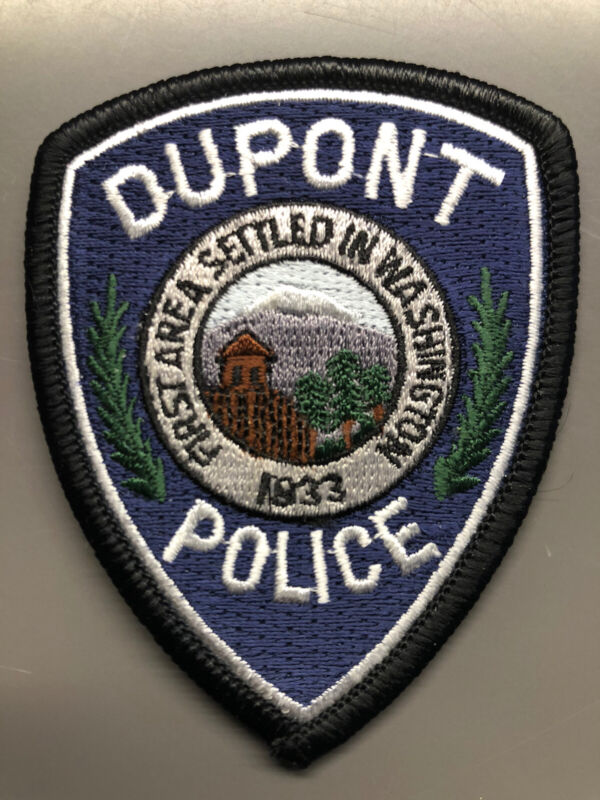 Dupont Washington Police Hat Patch ~ small size