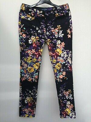 ATELIER GARDEUR Black Floral Jeggings SIZE 10 (W:30 L:31) Super Slim Fit *FAB!*