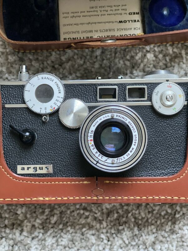 Argus camera with case and accessories