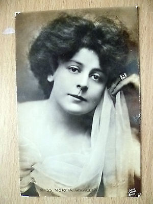 Real Photo Postcard- Theater Actresses MISS NORMA WHALLEY, No. G 946
