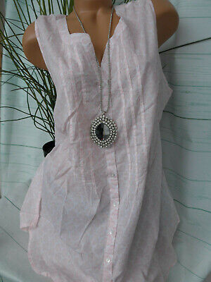 Sheego Damen Bluse Shirt Tunika Gr. 50 Kurzarm Rosa (250)  NEU - Rosa Bluse Shirt