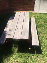 Wooden bench table and bench seat Beaumaris Bayside Area Preview