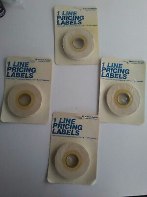 White 1-line Pricing 1063 Labels 4 Pks For Monarch Marking 1105 1110 Labelers