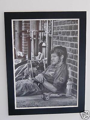 High Quality A2 poster print - Guy Martin taking a break -  TT rider