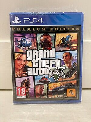 New Grand Theft Auto V 5 Premium Edition PS4 Sony Incl GTA 5 Online UK PAL Game