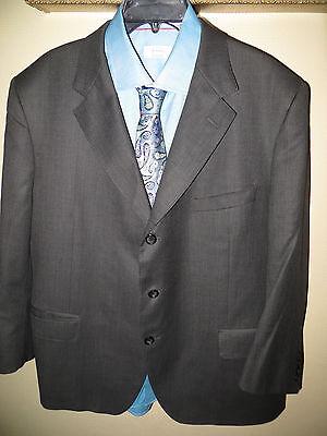Tom Barnett Hand Made Dormeuil Amadeus England Grey Suit Blazer 48R Pant 40X26