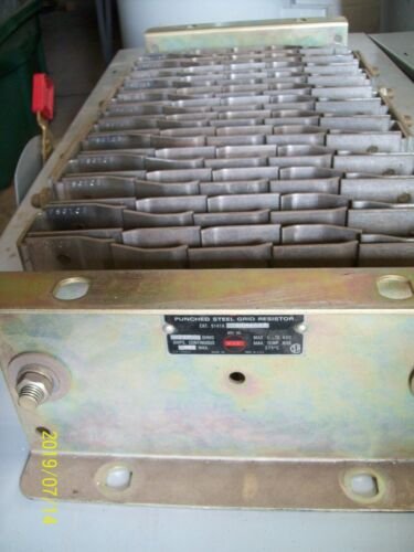 GE PUNCHED STEEL GRID RESISTOR 490 AMP 490A .025 OHMS , 9141A 004A103
