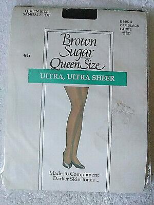 Brown Sugar Ultra Ultra Sheer Pantyhose Queen Size Off Black Large #5  (Off Brown Sugar)
