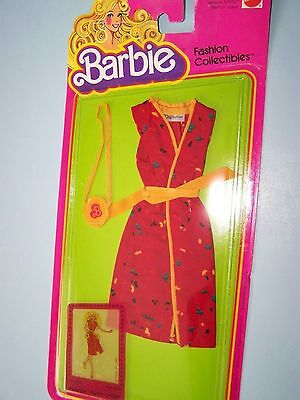 #1903 BARBIE FASHION COLLECTIBLE  (c) 1980 - red dress with splashes of color