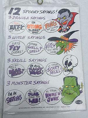 12 Spooky Sayings Halloween Decor Sign Making Witches Skulls Dracula Monsters  - Spooky Halloween Sayings