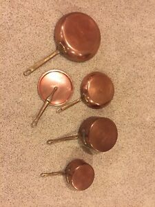 Vintage copper pots