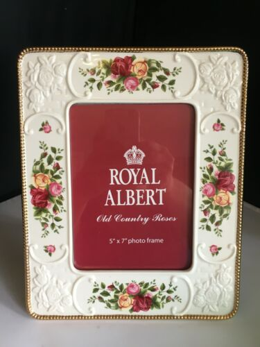 """ROYAL ALBERT OLD COUNTRY ROSES 5"""" X 7"""" PHOTO PICTURE FRAME NEW"""