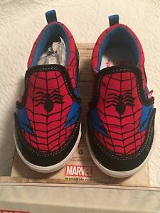 Toddler size 6 Stride Rite Spider-Man Slip Ons