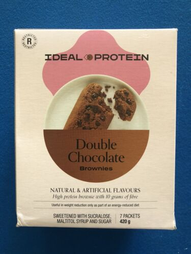 Ideal Protein Double Chocolate Brownies - 7 Packets - EXP 10/31/21 - FREE SHIP!