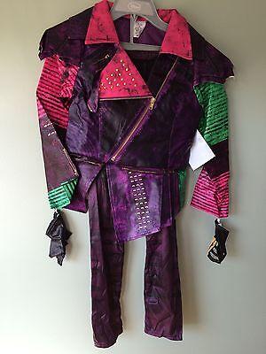 Nwt Disney Store Descendants Mal Costume Set Jacket Pants Gloves Girls 5 6 9 10