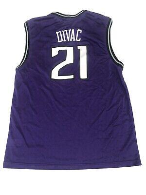 Vlade Divac Sacramento Kings Jersey Mens White Reebok NBA Size L