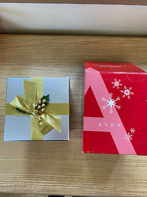 Avon Snowman Folding Christmas Box Music Lights Gift Box Vintage Opens Up