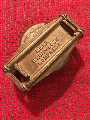 Vintage Kerr Equa Lock Denture Flask Clamp System. Brass
