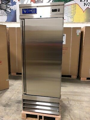 New Coolfront One 1 Door Upright Commercial Stainless Steel Freezer 23 Cu. New