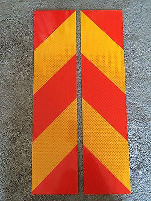 New Red & Yellow  Chevron High Intensity Reflective Tape Self-Adhesive Vinyl