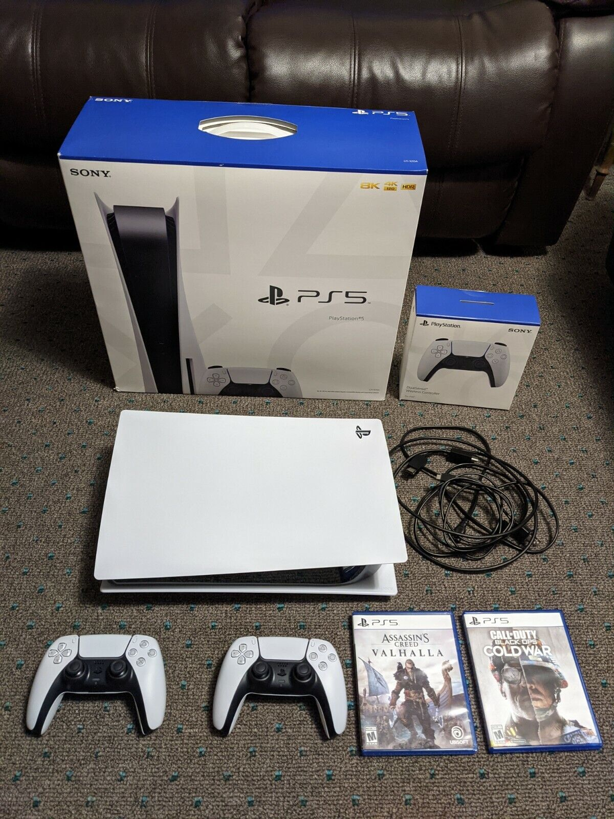 Sony PS5 Console Bundle With Extra Controller, Assassin s Creed And Call Of Duty - $910.00