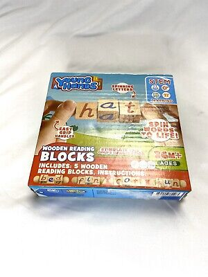 Wooden Reading Blocks | [5] Sets Of Educational Alphabet STEM (Open Box)