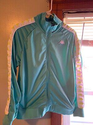 Kappa Blue & White Zip Front Track Jacket Men's