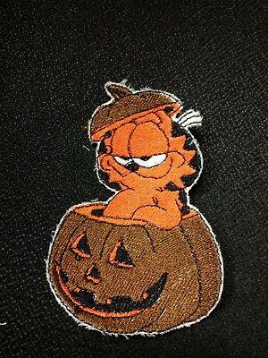 Aufnäher Halloween Kürbis Katze Katzen Patches Baby Patch Aufbügler Kinder Kater