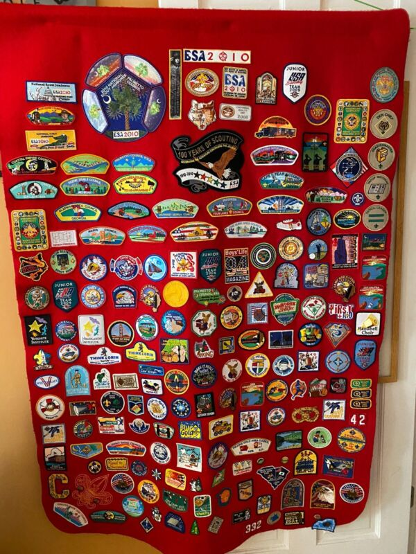 Boy Scout Patch Blanket BSA palmetto Order Of The Arrow
