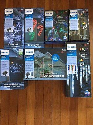 LOT Of Philips Christmas Indoor/Outdoor Lights/Projectors. NEW