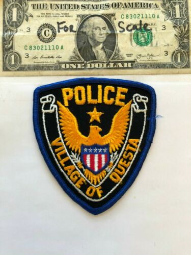 Village of Questa New Mexico Police Patch  Un-sewn great condition