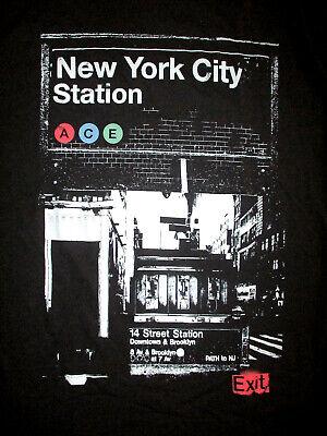 New York City Subway T-Shirt 14th Street Station Nyc Brooklyn Downtown M
