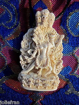 INCREDIBLY DETAILED IVORY-LOOK VAJRAYOGINI DAKINI TIBETAN BUDDHIST PENDANT USA