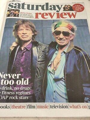 ROLLING STONES MICK JAGGAR KEITH RICHARDS SATURDAY REVIEW UK 3 August 2019