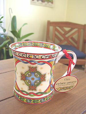 The Celtic Cross from Clara Celtic Weave,  Bone China Cup or Mug