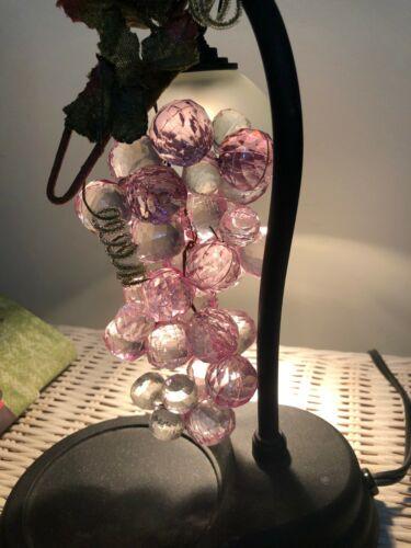 Vintage Unique Faceted Shimmering Grape Cluster Centerpiece Lucite Acrylic
