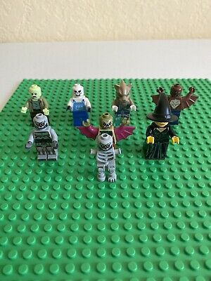 LEGO Lot Of 8 Mini figures Monster Fighters Halloween Haunted Witch Wolf Skull