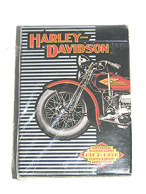 Harley Davidson Motorcycle 1903 - 1950 Playing Cards From 1997 New In Package!!