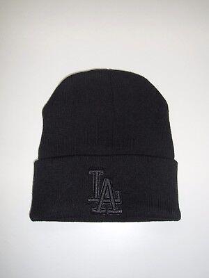 Angels Beanie - LOS ANGELES DODGERS CUFFED KNIT BEANIE HAT, Black
