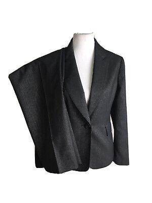 KASPER Women 2 PC Elegant Black Metallic Pant Suit Size 12 P