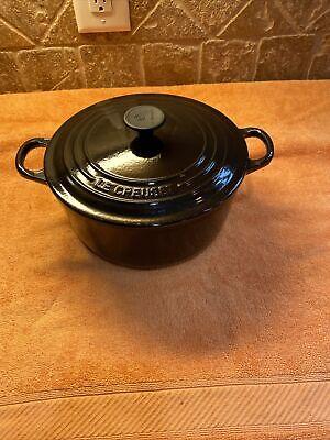 Le Creuset Vintage Black Dutch Oven #22 - 3.5 QT France