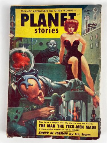 PLANET STORIES March1954, vol: 6 #5: Holden, McConnell, Storm, Barefoot, Grimes+
