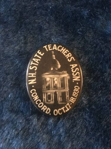 Vintage NH State Teachers Assn. Concord Pinback - 1930 Pin - Fast Free Shipping!