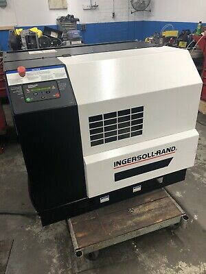 Ingersoll Rand Ep25 25hp Rotary Air Compressor Baseplate Enclosed 460 Volt