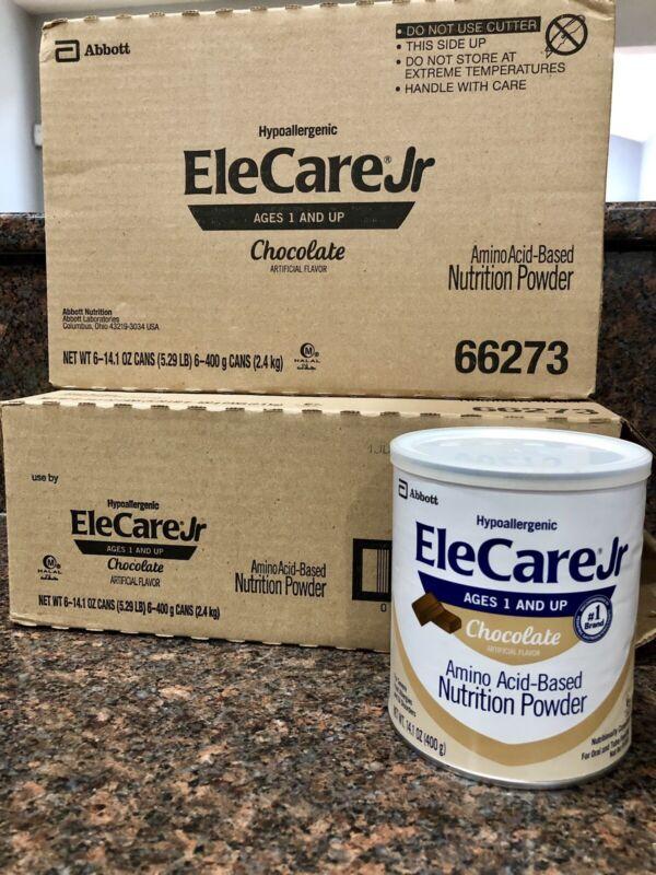 12 Cans Elecare Jr Chocolate  Formula 14.1 Oz Cans 2 Cases